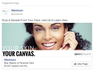 Facebook Ad - Skintrium