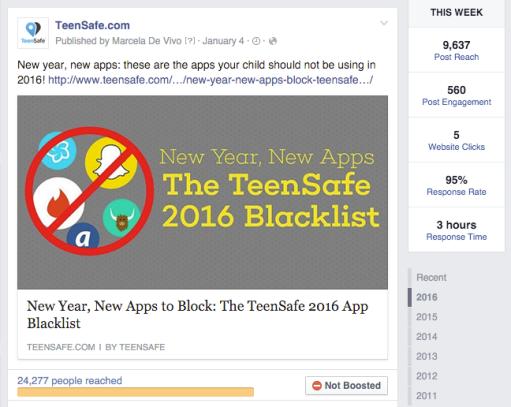 Facebook Ad - TeenSafe 3