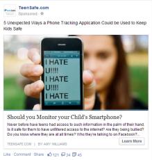 Facebook Ad - TeenSafe